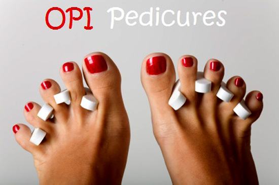 OPI Pedicure Beauty Salon Edinburgh